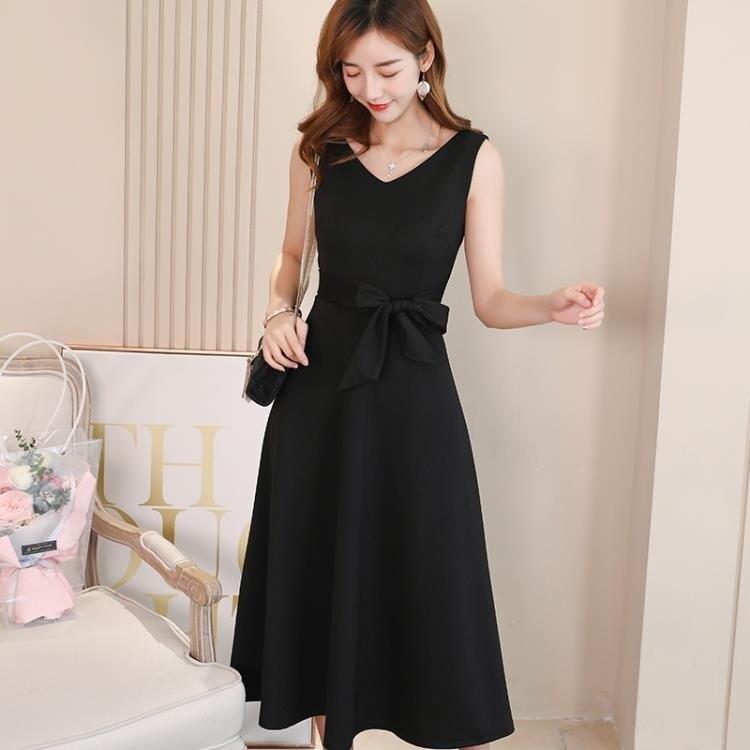 免運 無袖洋裝 款春夏季新款裙子很仙小眾連身裙女裝中長裙韓版時尚打底裙
