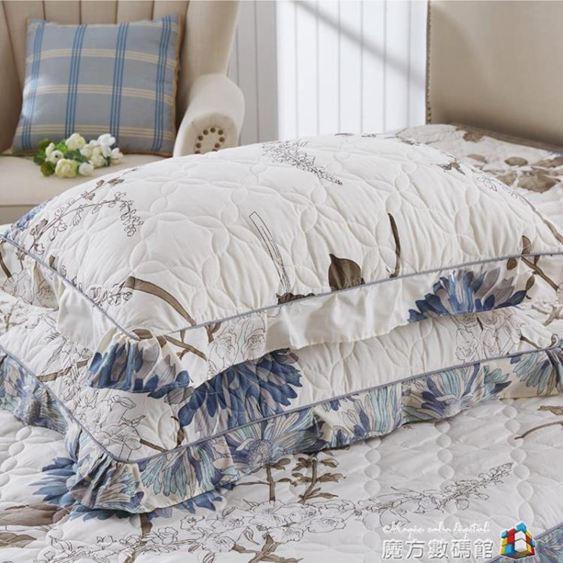 枕套純棉夾棉加厚一對裝枕頭套大號成人單人用枕芯罩枕皮