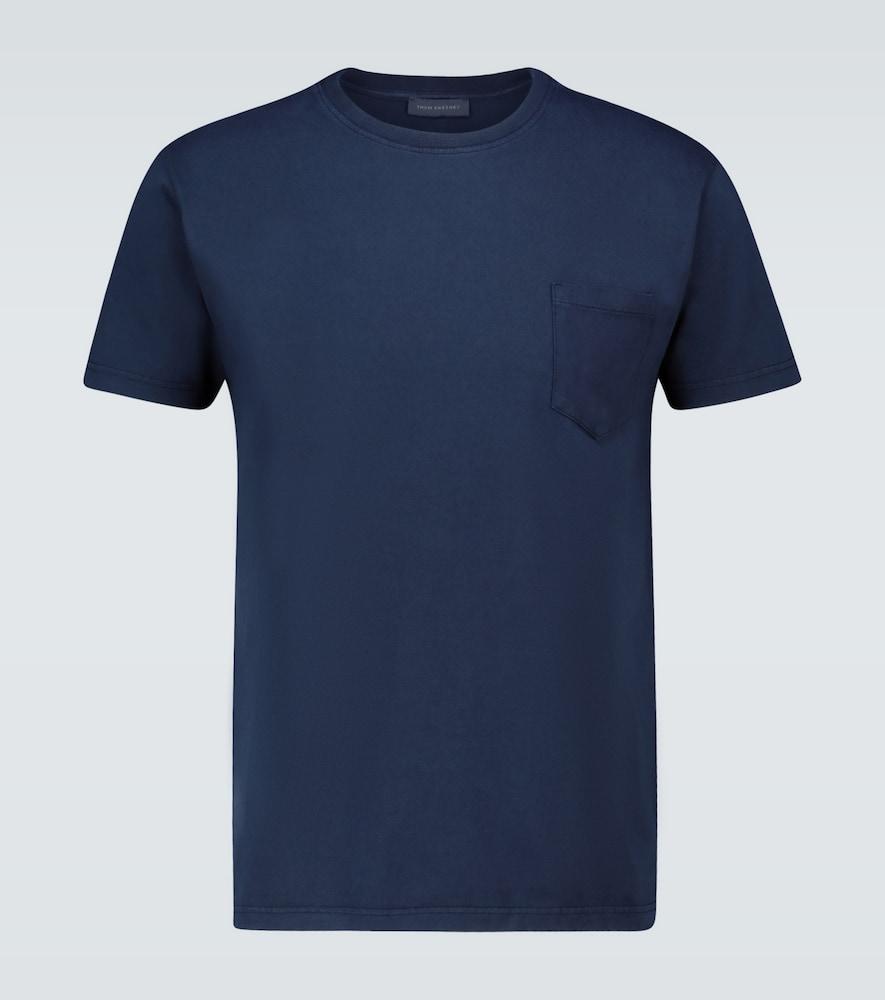 Washed cotton T-shirt