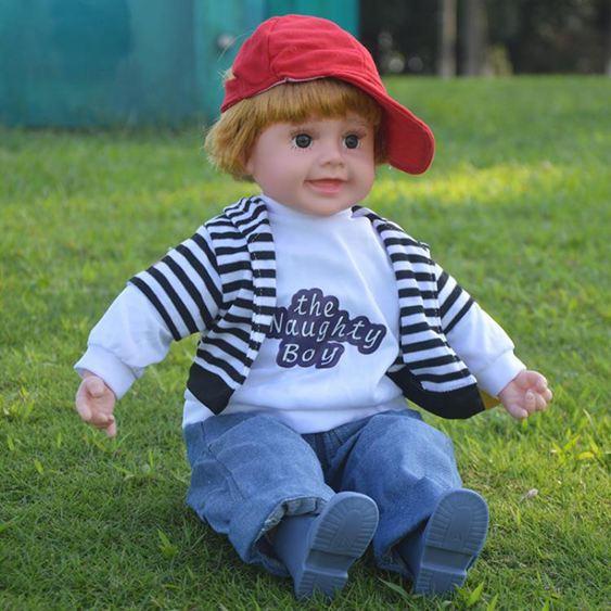 兒童智慧對話娃娃會說話的洋娃娃仿真軟膠娃娃音樂布娃娃男孩玩具