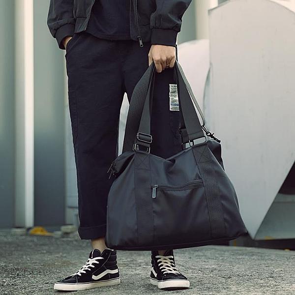 休閒單肩包男士斜挎包手提旅行包運動包健身包行李包青年潮大容量 酷男精品館
