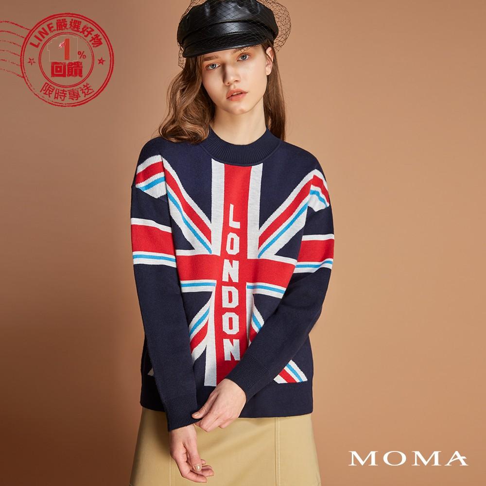 MOMA(92KM83)英國國旗針織上衣