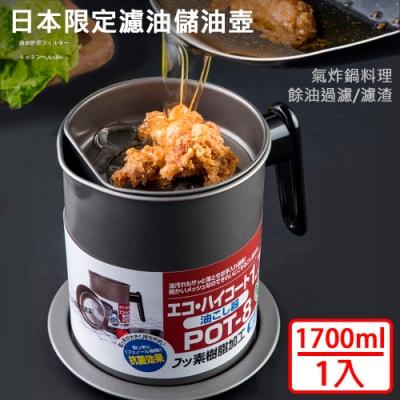 【挪威森林】大容量濾渣濾油壺-日本限定304不鏽鋼濾網款(1入)