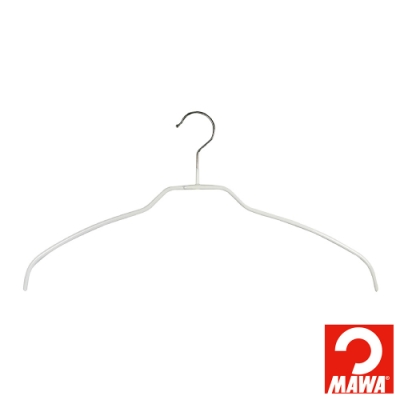 德國MAWA 時尚簡約收納衣架42cm_白色(8入)