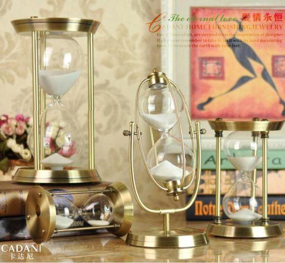 沙漏時間沙漏計時器30/60分鐘創意金屬擺件生日禮物歐式客廳裝飾沙漏