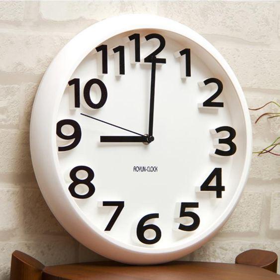 siton時尚創意靜音掛鐘現代簡約時鐘個性數字鐘表藝術客廳石英鐘