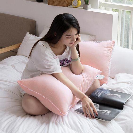 枕頭—枕頭成人枕芯單人女孩護頸枕學生寢室宿舍床護頸助睡眠整頭一只裝