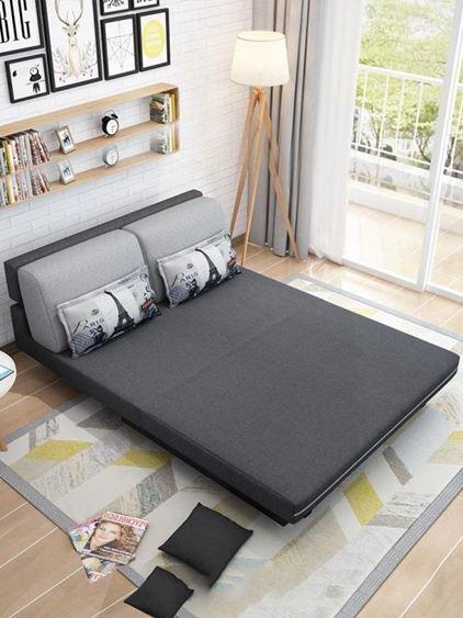 折疊沙發床沙發床可折疊客廳雙人小戶型簡易沙發多功能1.2米1.51.8乳膠沙發