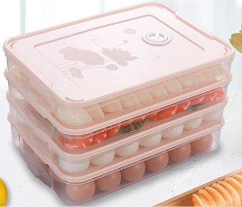 餐盤餃子盒家用凍餃子速凍水餃盒混沌盒冰箱雞蛋保鮮收納盒多層托盤