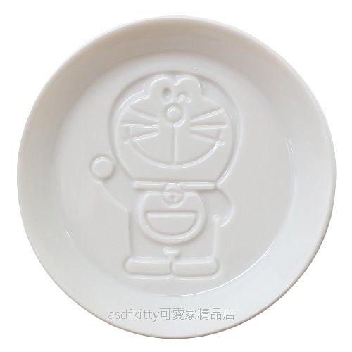 asdfkitty*日本金正陶器 哆啦A夢全身陶瓷醬料碟/醬油碟/茶包盤/湯匙架-日本製