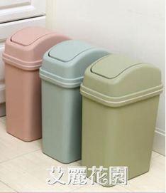 垃圾桶家用客廳廚房辦公室廁所衛生間窄縫帶蓋大號臥室分類有蓋