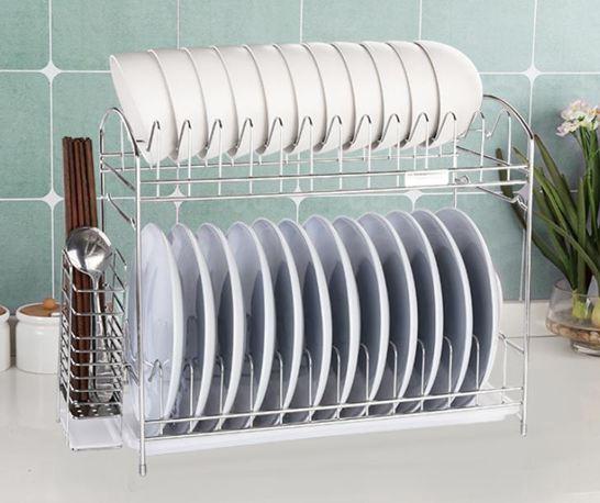 碗架瀝碗架單層廚房用品304不銹鋼碗盤餐具置物架涼放碗碟收納瀝水架