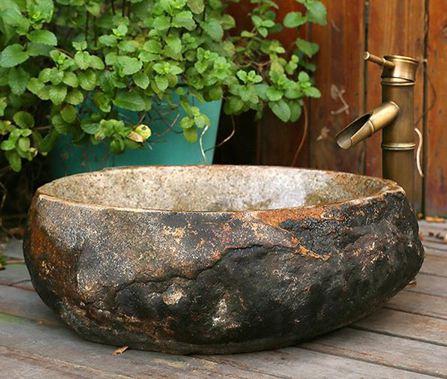 臺上盆天然石盆石頭洗手盆復古鵝卵石臺上盆天然石材洗臉盆藝術盆洗面盆
