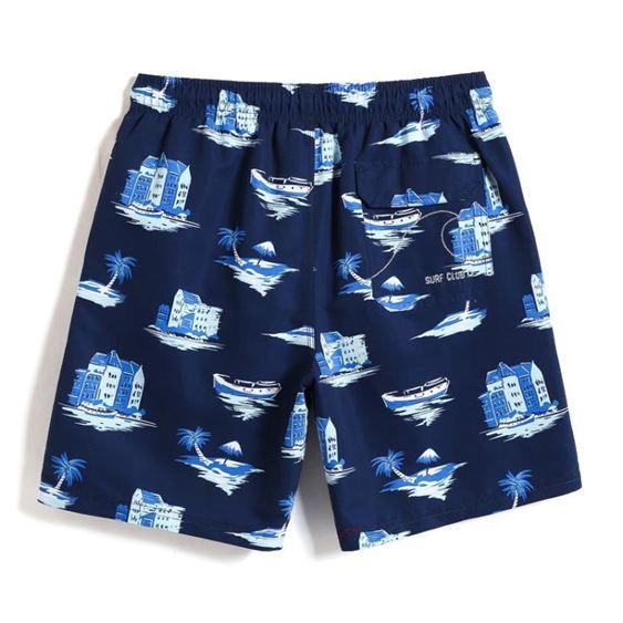 沙灘褲男速幹游泳褲海邊度假寬鬆休閒潮牌休閒時尚短褲