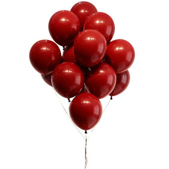 網紅氣球馬卡龍寶石紅結婚用品婚房新年裝飾生日婚禮婚慶場景布置科技