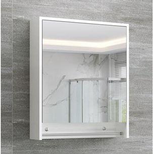 浴室櫃北歐實木現代簡約衛生間鏡箱帶燈廁所掛墻式鏡子帶置物架