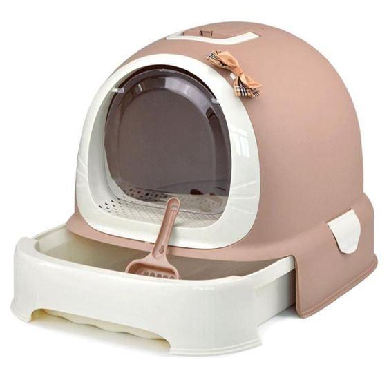 貓砂盆全封閉式貓廁所肥貓超大貓沙盆大號防濺防臭單層貓便盆jy