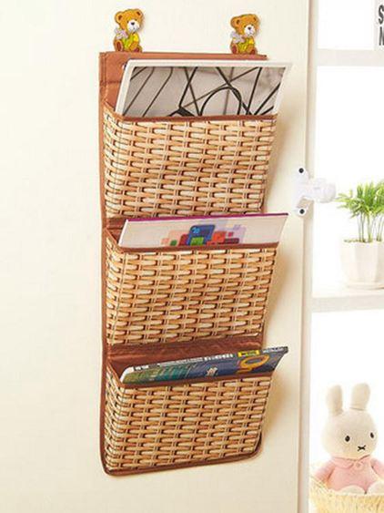 學生宿舍雜志雜物書報墻上大號門後床頭置物袋壁掛墻掛式收納掛袋