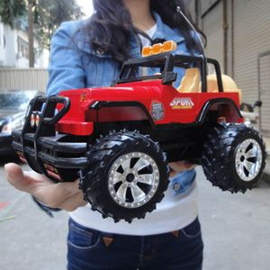超大耐摔燈光遙控車跑車充電遙控汽車兒童耐摔玩具