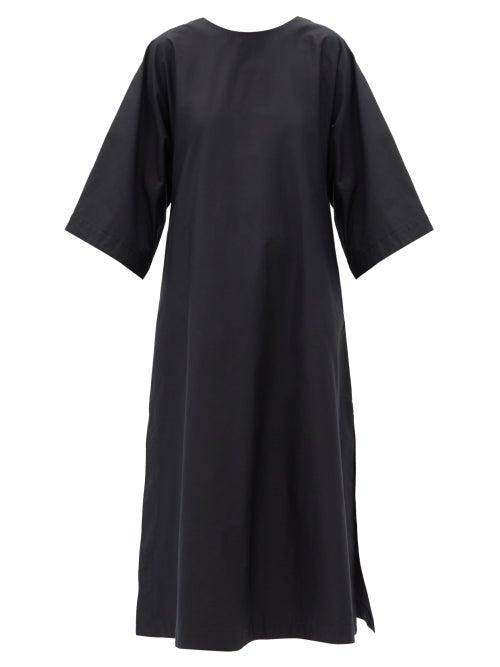Connolly - A-line Cotton-poplin Midi Dress - Womens - Black