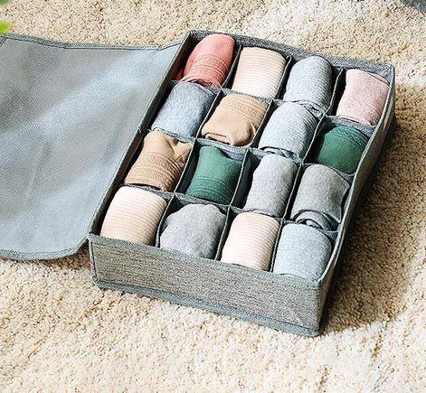 內衣收納盒內褲文胸襪子收納整理神器布藝內衣褲分類整理盒整理箱