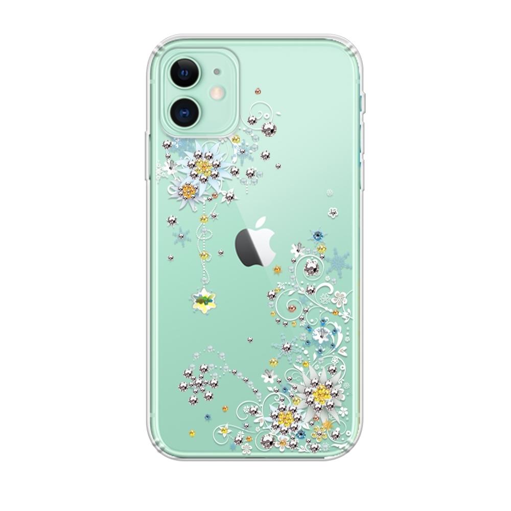 apbs iPhone 11 6.1吋施華彩鑽防震雙料手機殼-雪絨花