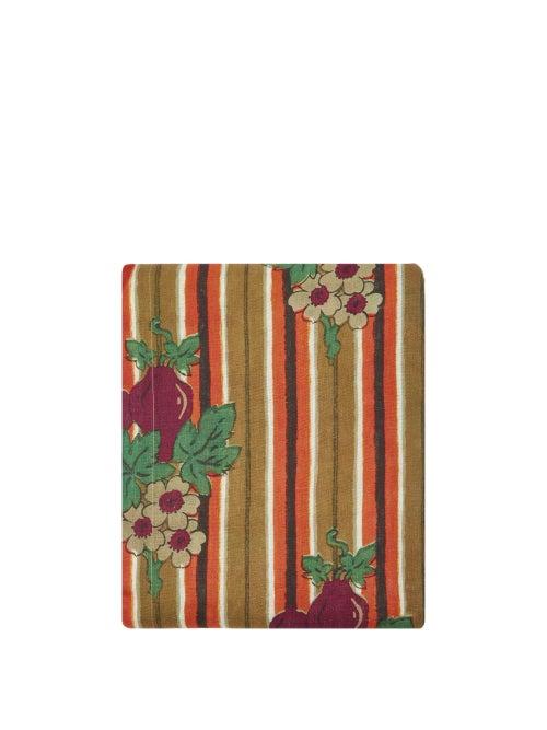 Cabana Magazine - Striped And Floral-print 160cm X 320cm Tablecloth - Multi