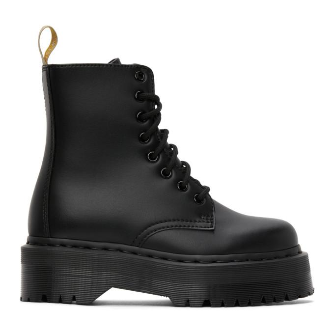 Dr. Martens 黑色 Jadon II Mono 纯素皮革踝靴