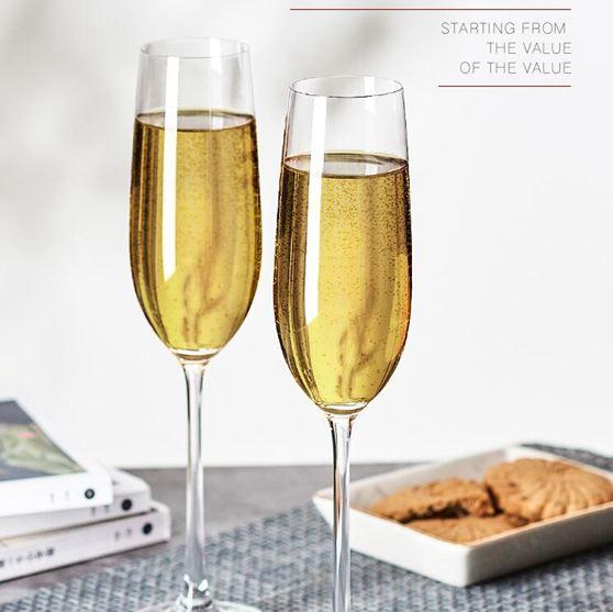 紅酒杯歐式水晶玻璃香檳杯6只裝套裝家用2個甜氣泡