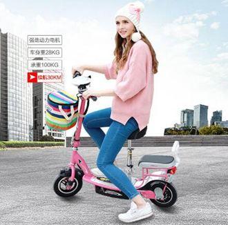 電動車迷妳電動車折疊小海豚成人女性小型代步電瓶車滑板車自行車