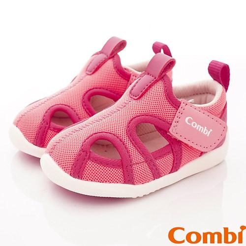 日本Combi童鞋 城市飛行幼兒機能涼鞋-甜心粉-12.5~15.5cm
