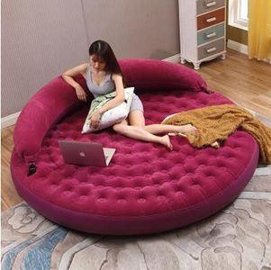 圓形可折疊雙人充氣沙髮床單人創意懶人沙髮家用加大氣墊床