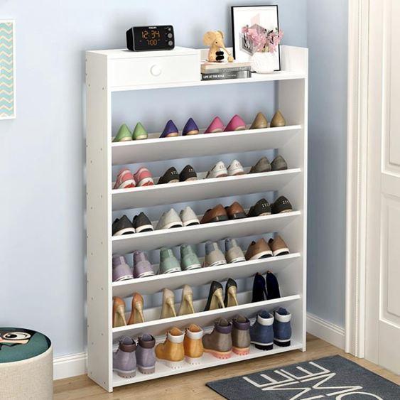 鞋櫃鞋架簡易鞋架多層組裝經濟型家用鞋櫃多功能門口鞋架省空間家裡人