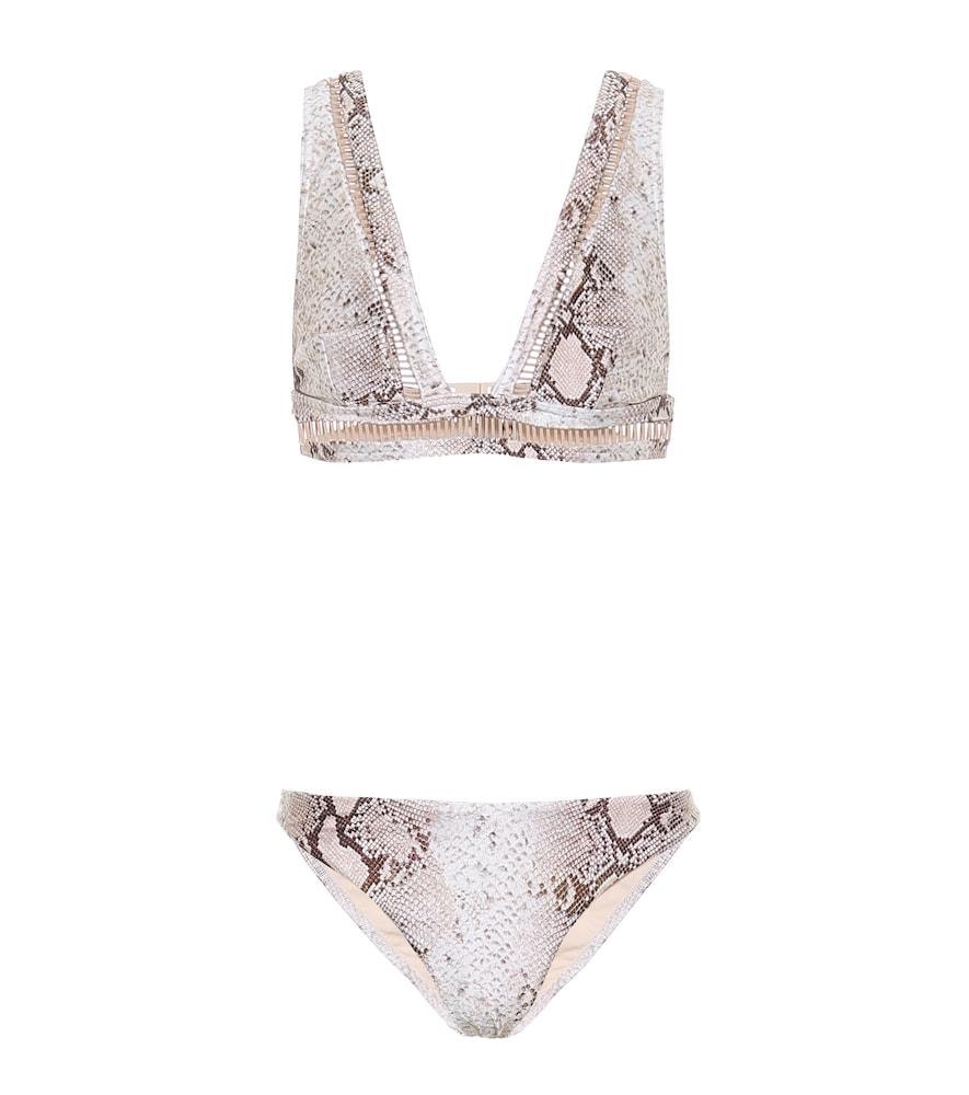Bellitude Ladder snake-print bikini