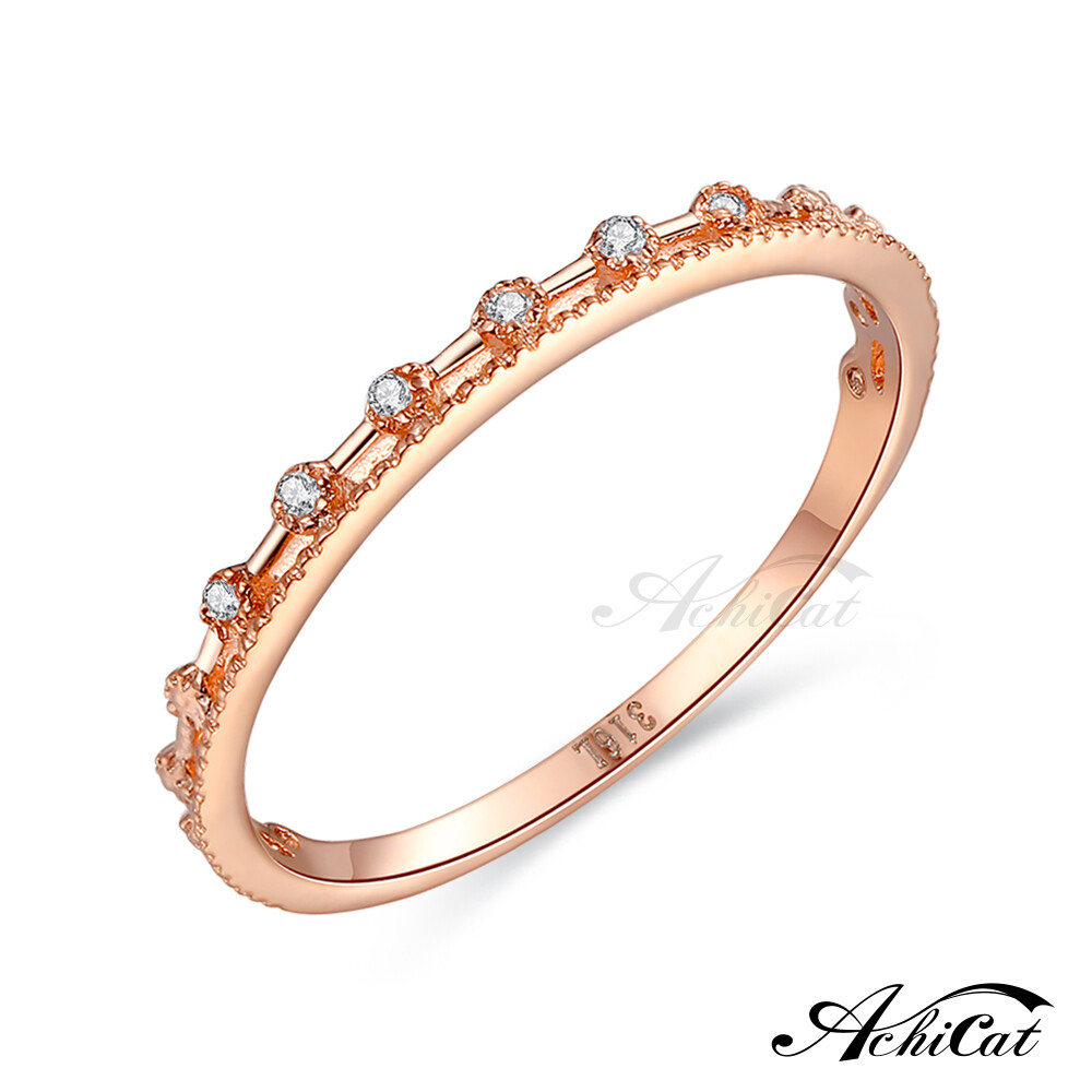 achicat 鋼戒指 點點星光 圓圈戒指 淑女尾戒 防小人戒指 a5002