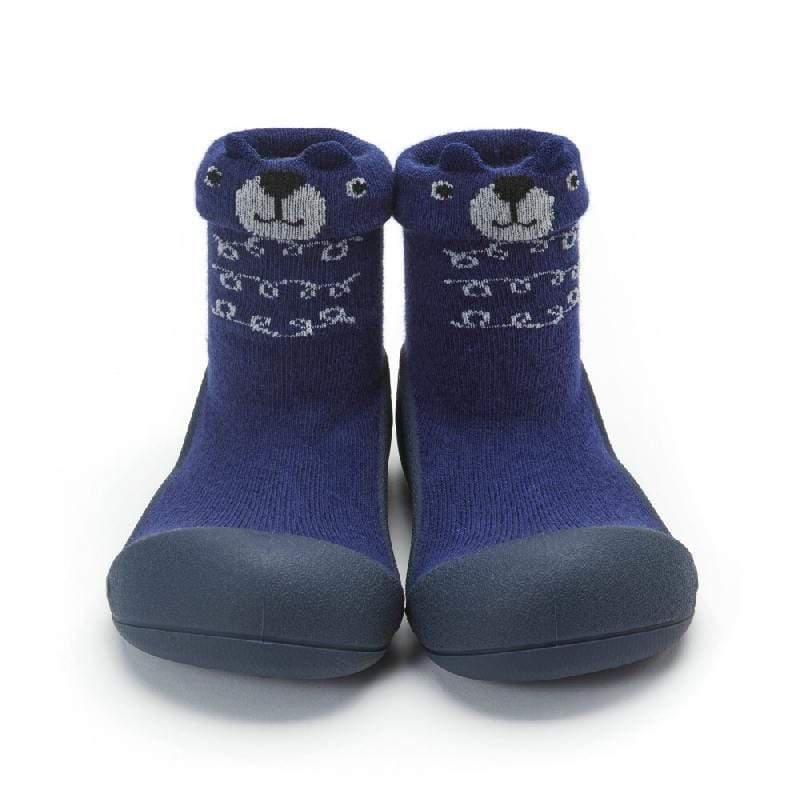 快樂學步鞋-深藍小熊- M