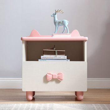 收納小型床頭櫃卡通儲物櫃粉色迷妳床邊窄小櫃子簡約家具全館特惠限時促銷