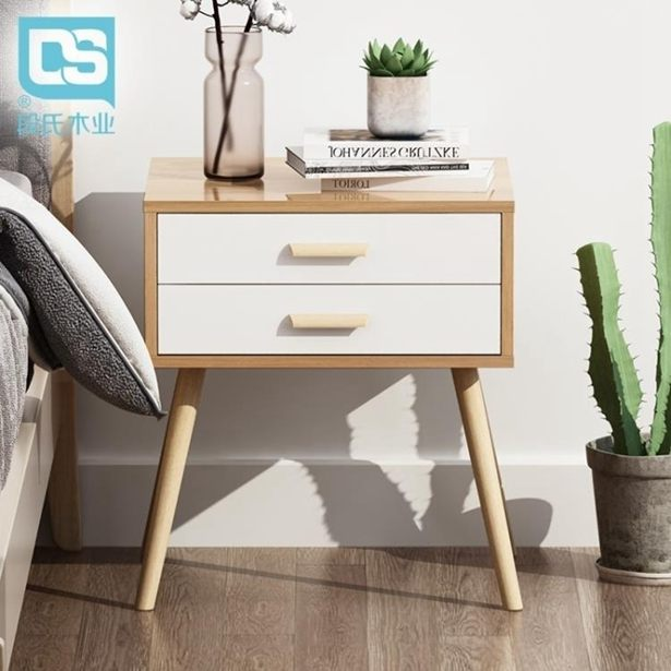 床頭櫃ins風北歐簡約現代日式床頭櫃收納抽屜簡易床小邊幾子經濟型儲物全館特惠限時促銷