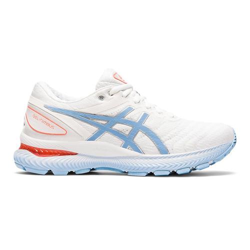 Asics Gel-nimbus(w) [1012A587-103] 女鞋 慢跑 運動 休閒 輕量 緩震 亞瑟士 白藍