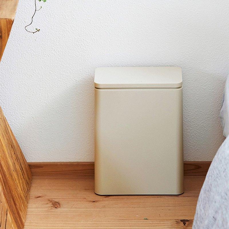 日本IDEACO 防臭按壓式桌邊/落地垃圾桶-3L