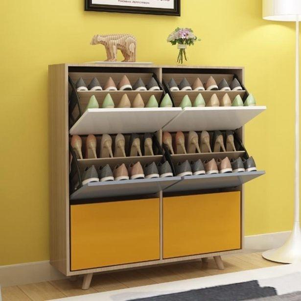 鞋櫃鞋架北歐鞋櫃簡易經濟型省空間家用超薄翻斗門廳櫃實木鞋架現代簡約全館特惠限時促銷