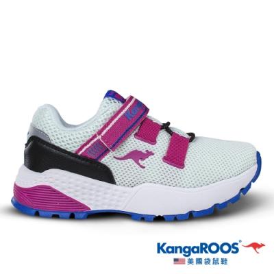 KangaROOS 美國袋鼠鞋 童 ROADSTER 腳踏車鞋(白/粉-KK01269)