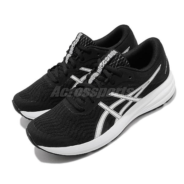 Asics 慢跑鞋 Patriot 12 黑 白 女鞋 入門款 黑白 基本款 緩衝設計 運動鞋【ACS】 1012A705001