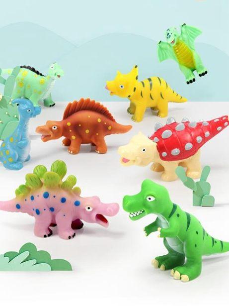 【618購物狂歡節】動物玩具 軟膠恐龍玩具兒童仿真動物模型霸王龍小孩子翼龍男孩劍龍卡通套裝全館特惠限時促銷
