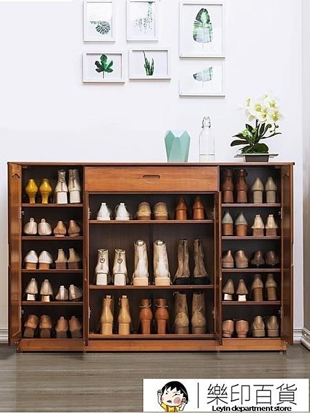 鞋櫃木馬人鞋櫃子多層簡易家用經濟型門廳鞋櫃收納組裝實木制簡約現代 樂印百貨