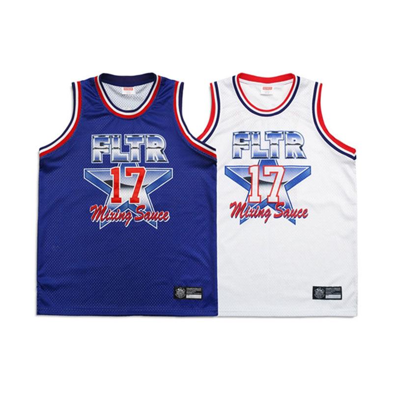 特賣65折!! Filter017 - FLTR Basketball Jersey 復古 籃球衣 (藍色.白色)