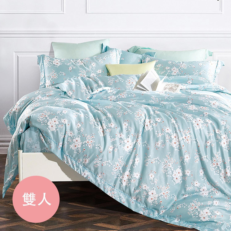 PureOne - 吸濕排汗天絲-靜蜜-雙人四件式床包鋪棉被套組