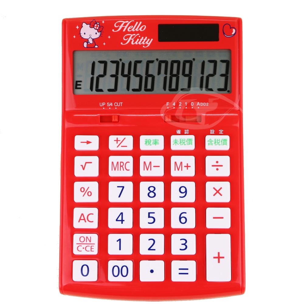 E-MORE HelloKitty 12位數計算機-紅 KT800