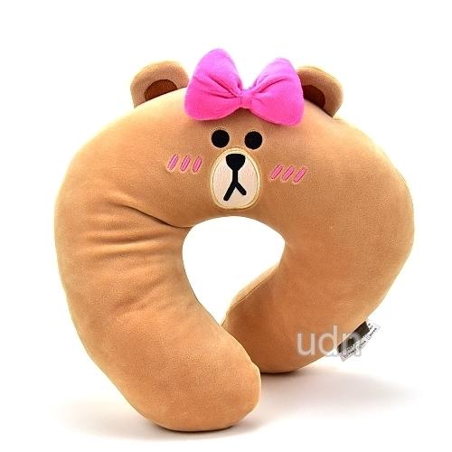 LINE FRIENDS【害羞熊美】頸枕