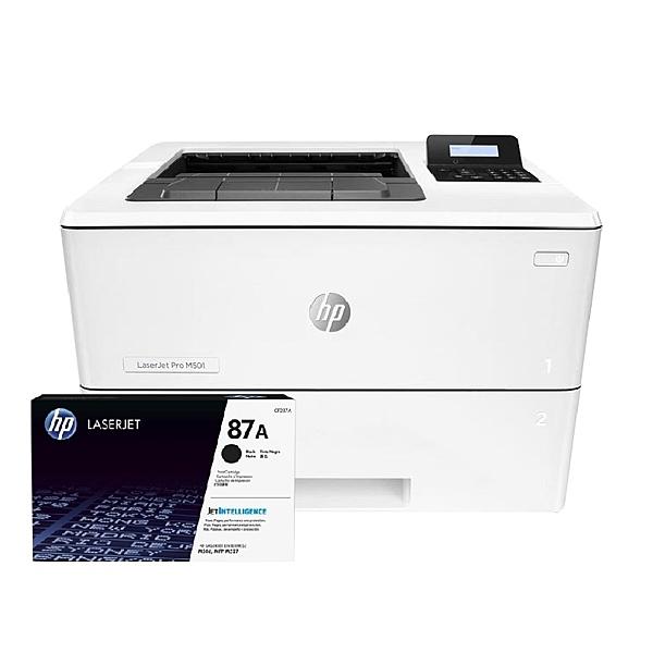 【搭CF287A原廠碳粉匣一支】HP LaserJet Pro M501dn 黑白高速雷射印表機